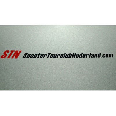 Lettersticker STN - Rood & Zwart